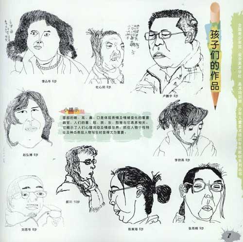 线描人物头像写生教程
