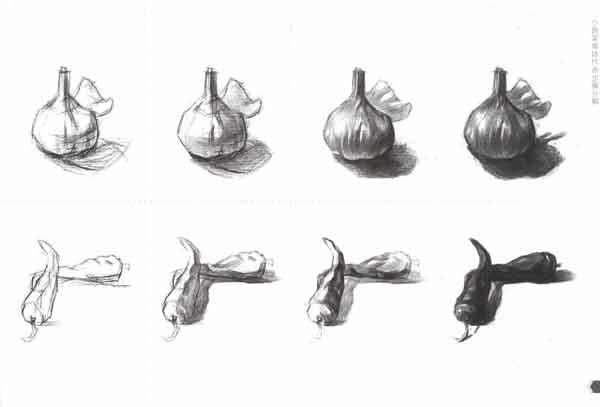 蔬菜素描画步骤