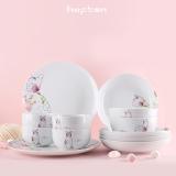 HOFTEN(赫芬) 喵星花语12头陶瓷套装 DU12-180916-1