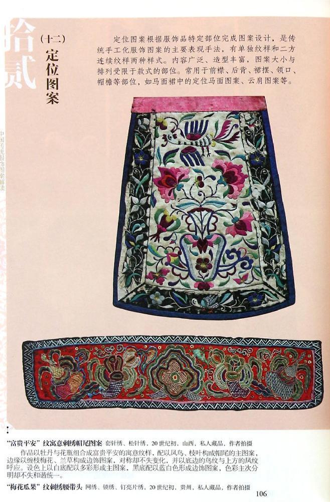 西藏传统服饰图案花纹