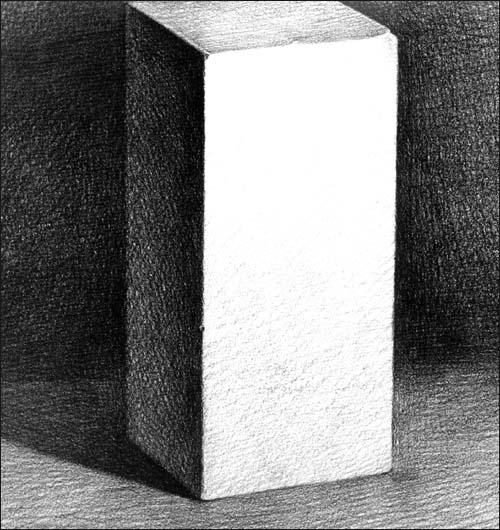 六棱柱石膏素描步骤