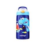 康迪克  2443-HBC-GIZ040小發明家兒童保溫吸管杯-恐龍400ML