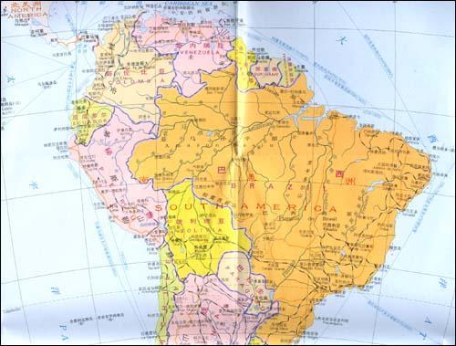南美洲(中英对照.双面)--旅游-文轩网