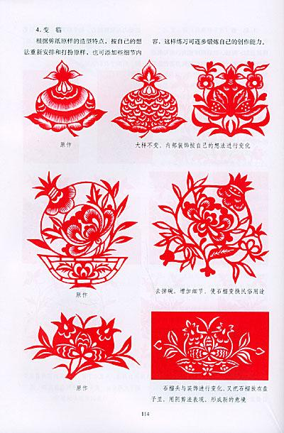 第三章剪花,果,枝叶 第一节剪纸花卉的变形