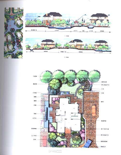 别墅 庭院 快题手绘设计