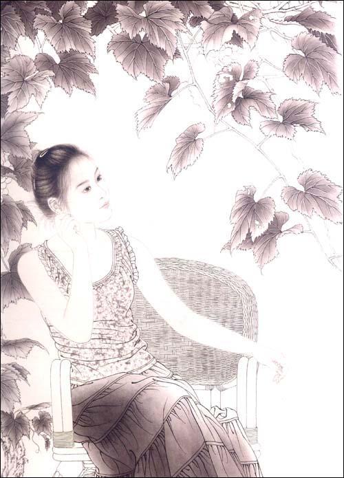 绘画 国画赏析 现代工笔人物画法 宋彦军 艺术 书籍