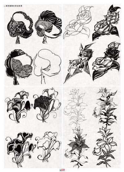 高考动物黑白装饰画 优秀作品