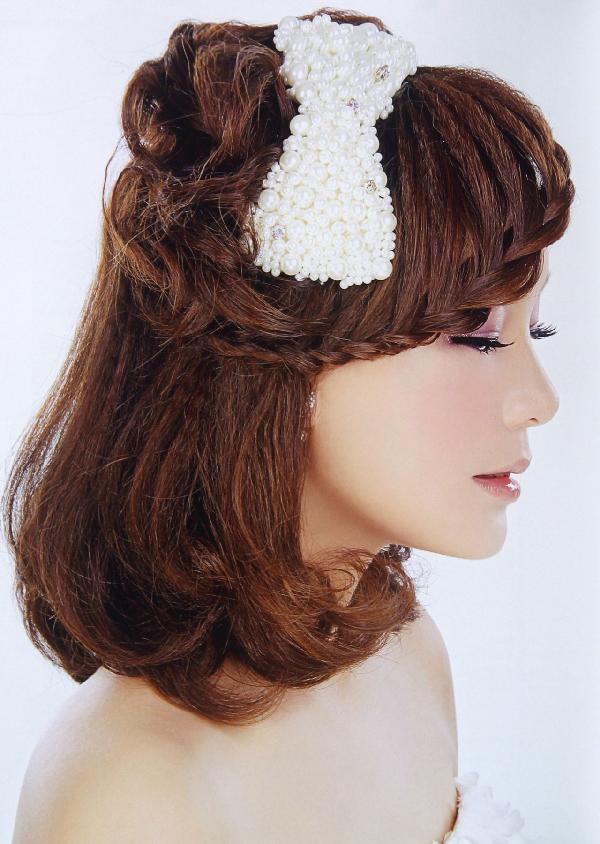 新娘编发设计案例,按风格分为唯美韩式发型
