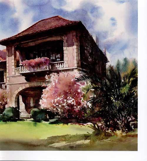 徐汇区老房子水彩画展作品集 免运费