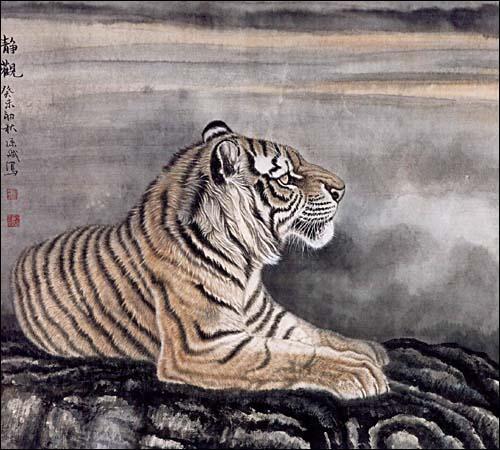 工笔狮虎豹画法