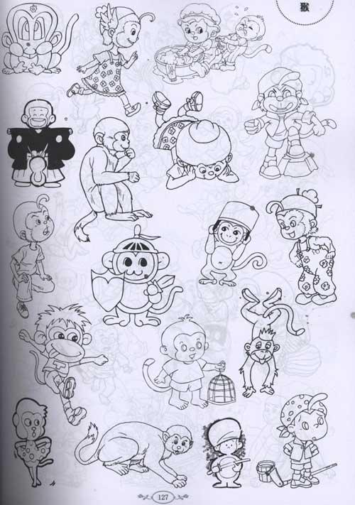 卡通动物造型图库-郭川