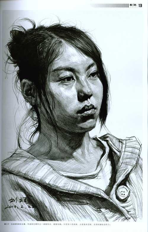 敲门砖完了技法(刘斌)从五官到头像-刘斌-表情忙你素描头像包吗图片