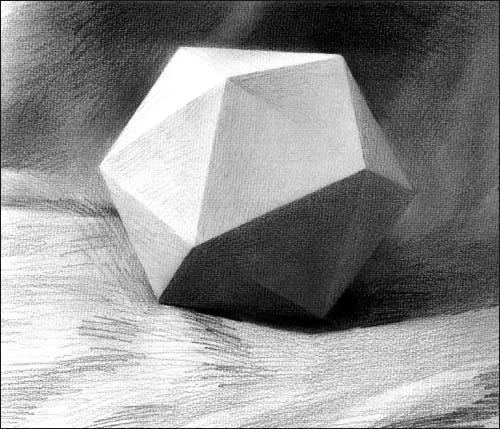 简单几何形体素描图片大全 培训素描基础 石膏几何形体图片