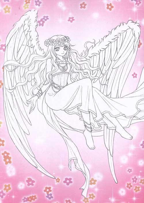 美少女涂色.魔幻天使