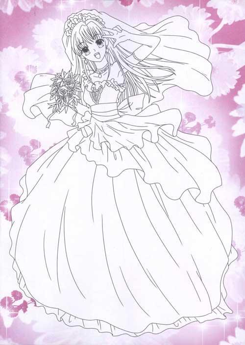 美少女涂色.可爱新娘