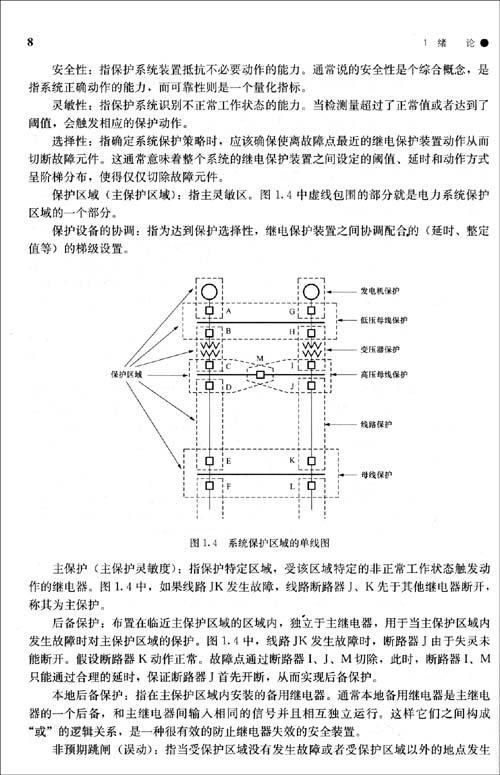 输电线路保护;④