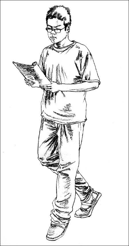 线性速写人物临摹图_人物速写-人物速写临摹图片-人物速写图片-人物素描-人物速写简单