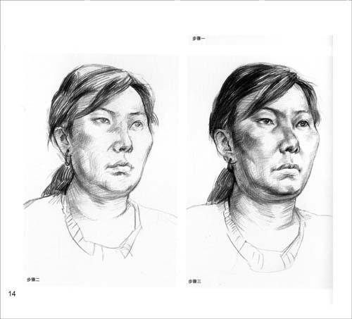 美术技法名师指导实战系列:素描头像·默写范本