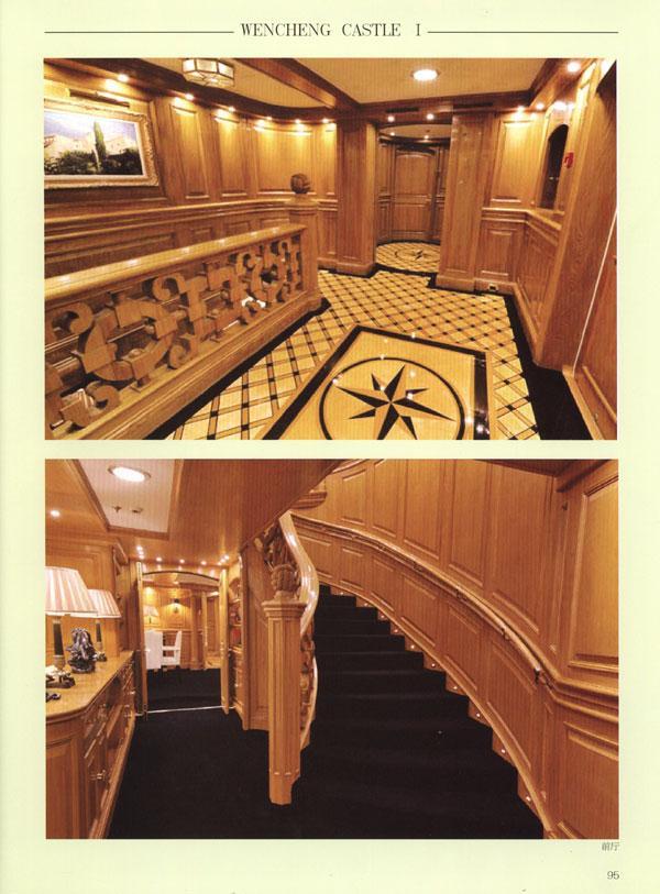 欧式风格城堡大厅楼梯