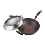 蘇泊爾火紅點鈦金剛 無油煙炒鍋可立蓋 PC32HA1  32cm不粘炒鍋