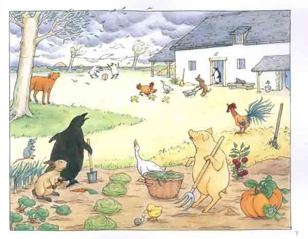 精疲力竭的小动物们来到邻近的农场避难