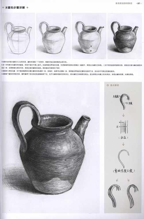本书收录了肖器宇的素描静物作品,步骤图分解详细,各种静物的造型法则