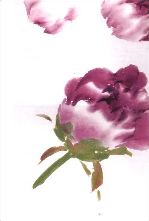 国画牡丹构图,画法教程
