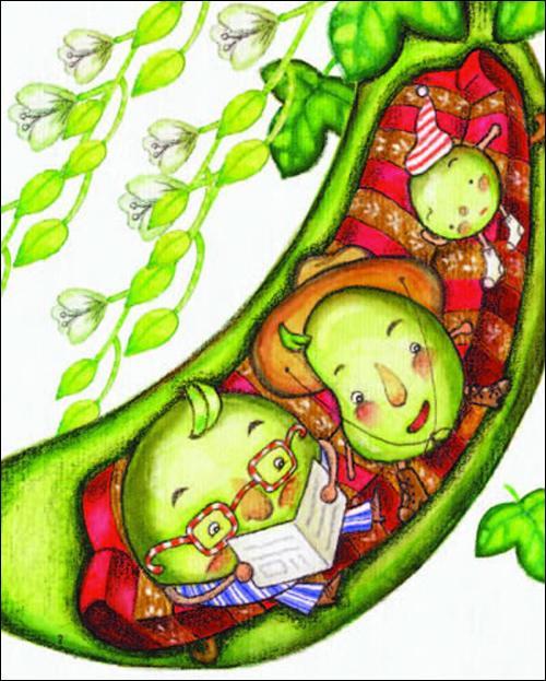 豌豆简笔画涂色